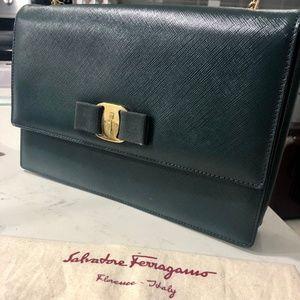 Salvatore Ferragamo Vara Flap Bag- Prestine condit